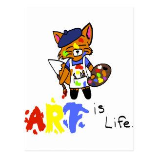 Fred der Künstler Fox Postkarte