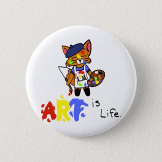 Fred der Künstler Fox Runder Button 5,7 Cm