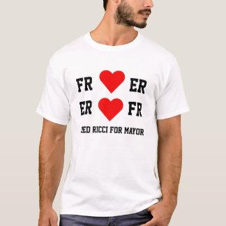 Fred Ricci für Bürgermeister-- Herz-Shirt T-Shirt
