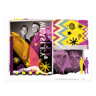 Fred und George Weasley Postkarte
