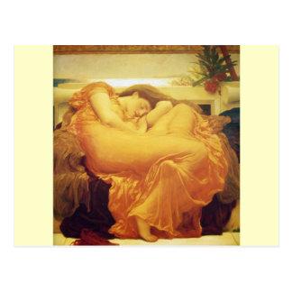 "Frederic Leighton, ""Juniflammend"" Postkarte"