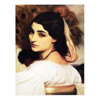 Frederic Leighton Pavonia-Postkarte Postkarte