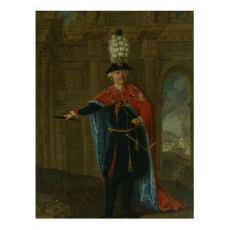 Frederick das große gekleidet im Kostüm Postkarte