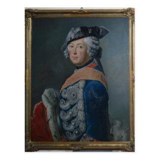 Frederick II das große von Preußen, nach 1753 Postkarte