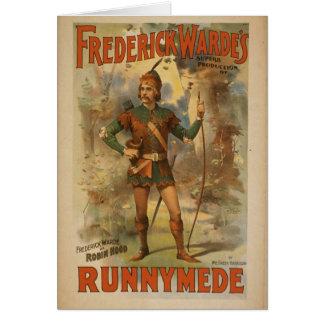 """Frederick warde, """"Runnyede"""", Robin Hood Vintages Karte"""