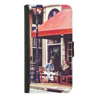 Fredericksburg VA - Café im Freien Samsung Galaxy S5 Geldbeutel Hülle