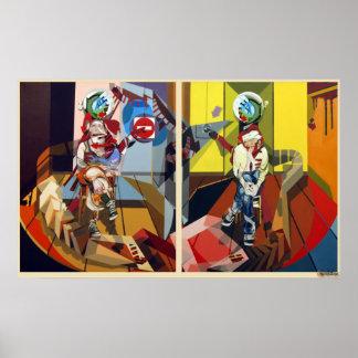 Frederik Bellanger femme&homme jambes croisees Poster