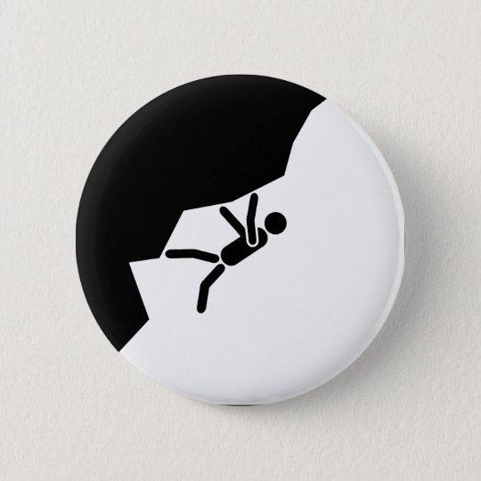 free climbing climber klettern kletterer bouldern runder button 5,1 cm