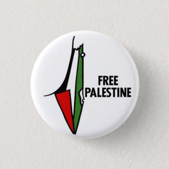 Free Palastine Pin Runder Button 3,2 Cm