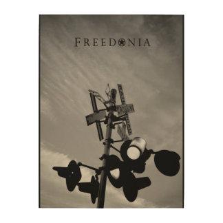 Freedonia hölzerne Platte - Eisenbahn-Überfahrt Holzdruck