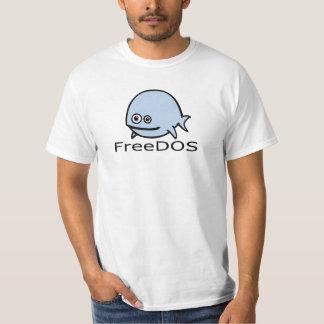 FreeDos Fische - Blau mit Namen T-Shirt