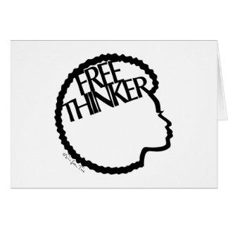 Freethinker - afrikanische Frau Karte