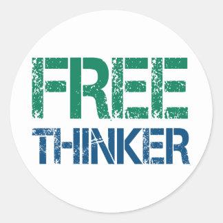 Freethinker Runder Aufkleber