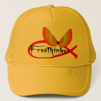 Freethinking-Fisch-Symbol Truckerkappe