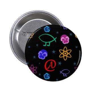 Freethought atheistischer kundengerechter Knopf Runder Button 5,7 Cm