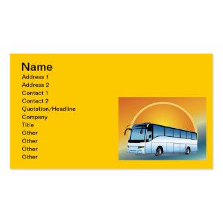 FreeVector-Bus Transport-Reisereisen Visitenkarten