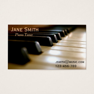Freiberuflich tätige Musik des Klavier-Tuners Visitenkarte