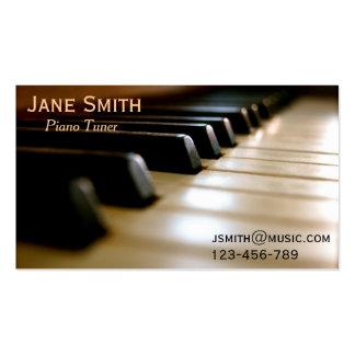 Freiberuflich tätige Musik des Klavier-Tuners Visitenkarten