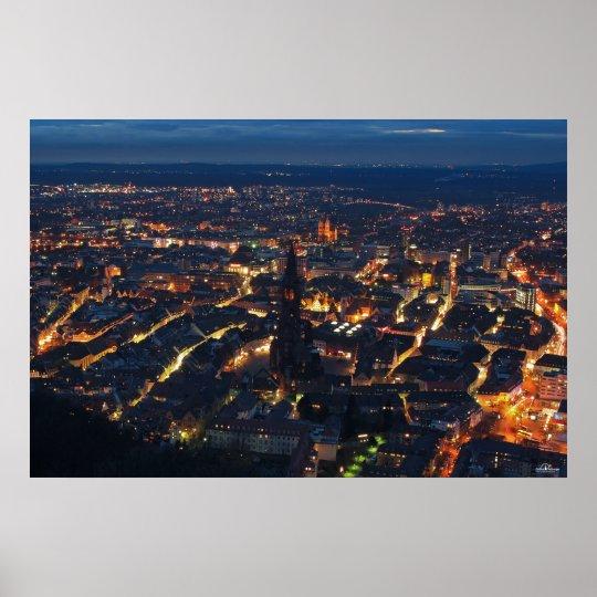 Freiburg bei Nacht Poster