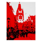 Freiburg Martinstor rot Poster