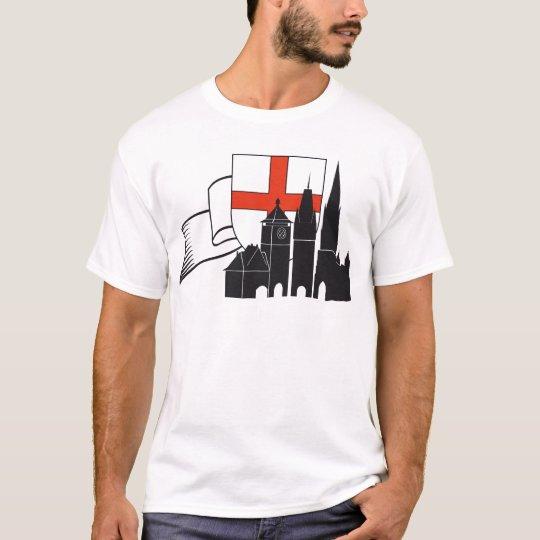 Freiburg Silhouette mit Wappen und Schleife T-Shirt