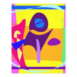 Freie bunte abstrakte Malerei Digital Individuelle Flyer
