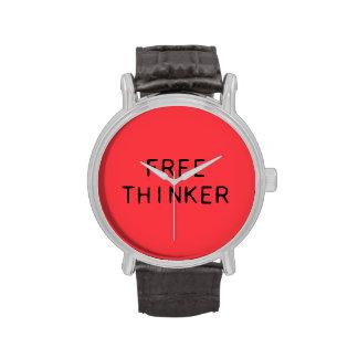 Freie Denker-Uhr mit Lederband