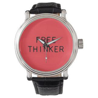 Freie Denker-Uhr mit Lederband Uhren