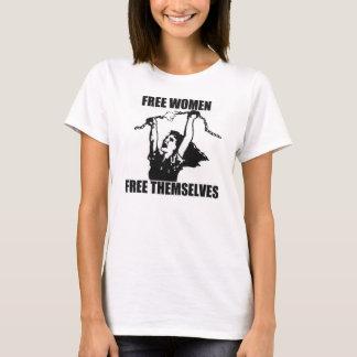 freie Frauen geben sich Trägershirt frei T-Shirt