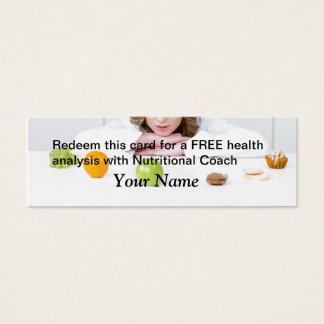 FREIE Gesundheits-Analyse Mini Visitenkarte