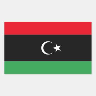 Freie Libyen-Flagge Rechteckiger Aufkleber
