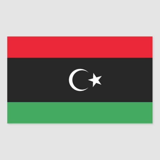 Freie Libyen-Flagge Sticker