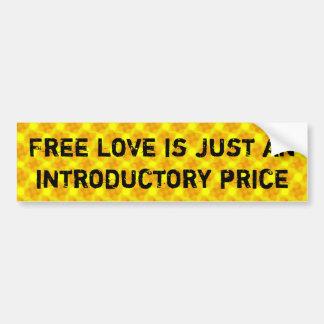 Freie Liebe ist gerade ein einleitender Preis Autoaufkleber