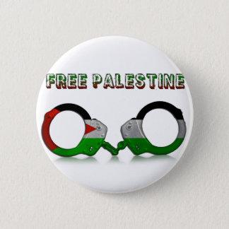 Freie Palästina-Handschellen Runder Button 5,7 Cm
