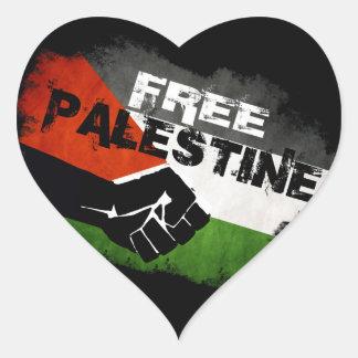 Freie Palästina-Herz-Aufkleber Herz Sticker