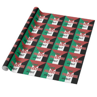 Freie palästinensische Flagge Palästinas jetzt Geschenkpapier
