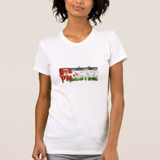Freie Retro Flagge Palästinas T Shirts