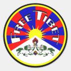 Freie runde Aufkleber Tibets