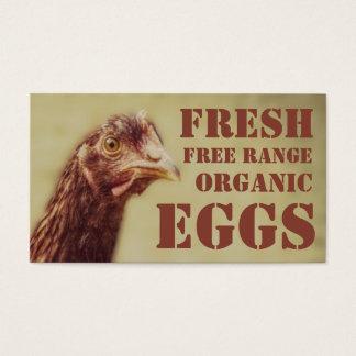 Freie Strecken-Bio Eier - Schicht-Huhn Visitenkarte