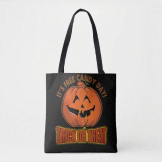 Freie Süßigkeits-Tageshalloweentrick-oder Tasche