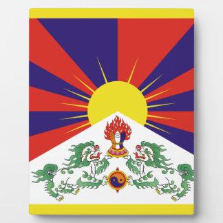 Freie Tibet-Flagge - Peu Rangzen བོད ་ རང ་ བཙན ་ Fotoplatte