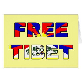 Freie Tibet-Karte Karte