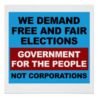 Freie und angemessene Wahlen Poster