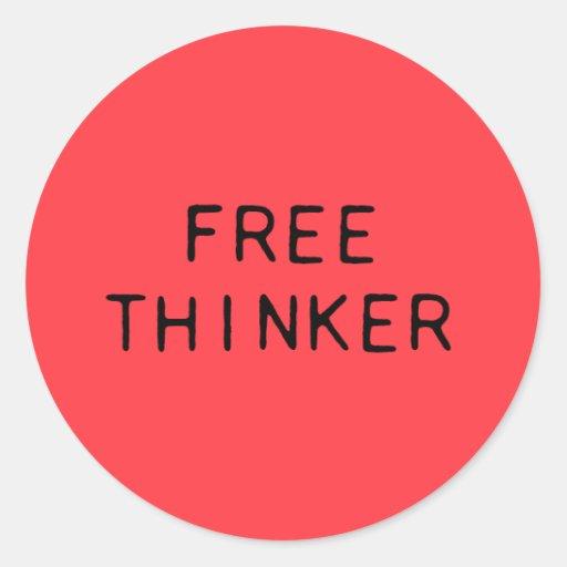 Freier Denker-Aufkleber