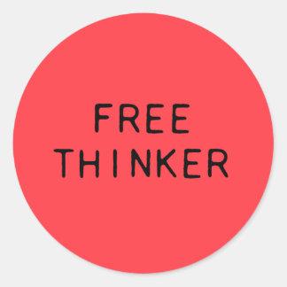 Freier Denker-Aufkleber Runder Aufkleber