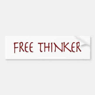 Freier Denker Autoaufkleber