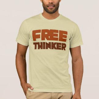 Freier Denker, der Logik und Grund verwendet T-Shirt