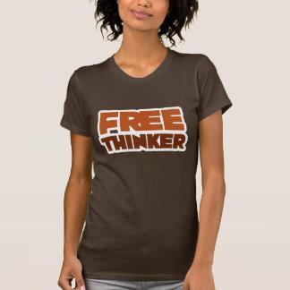 Freier Denker, der Logik und Grund verwendet T-Shirts