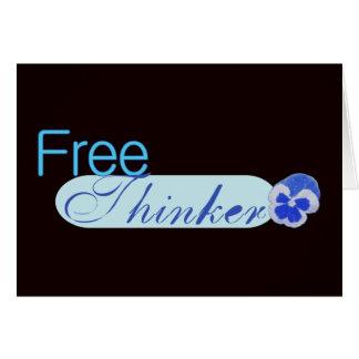 Freier Denker Mitteilungskarte