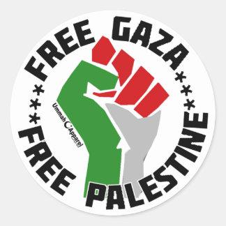 freier Gaza geben Palästina frei Runde Sticker